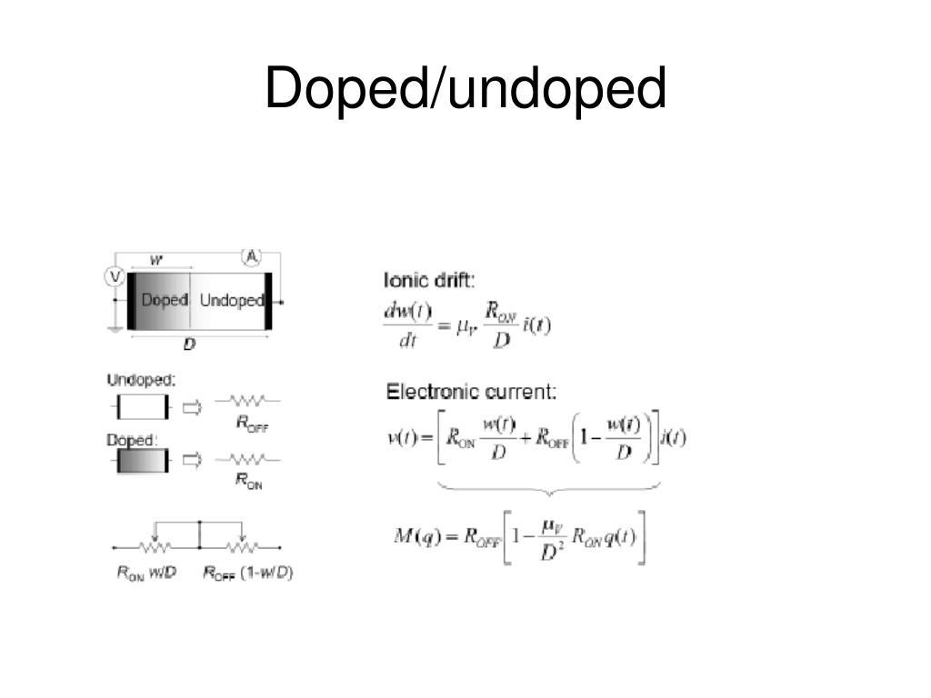 Doped/undoped