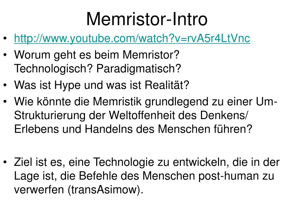 Memristor-Intro