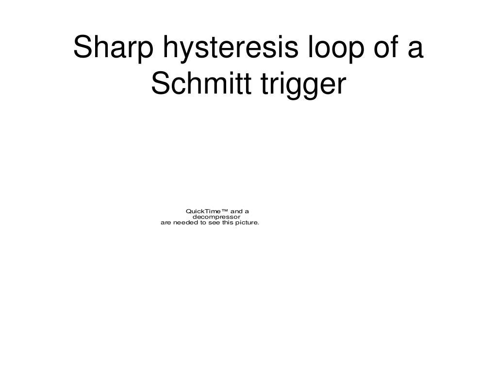 Sharp hysteresis loop of a Schmitt trigger