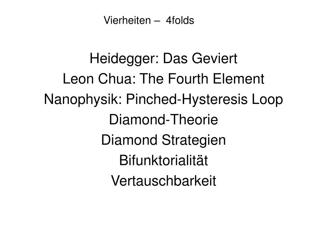 Vierheiten –  4folds