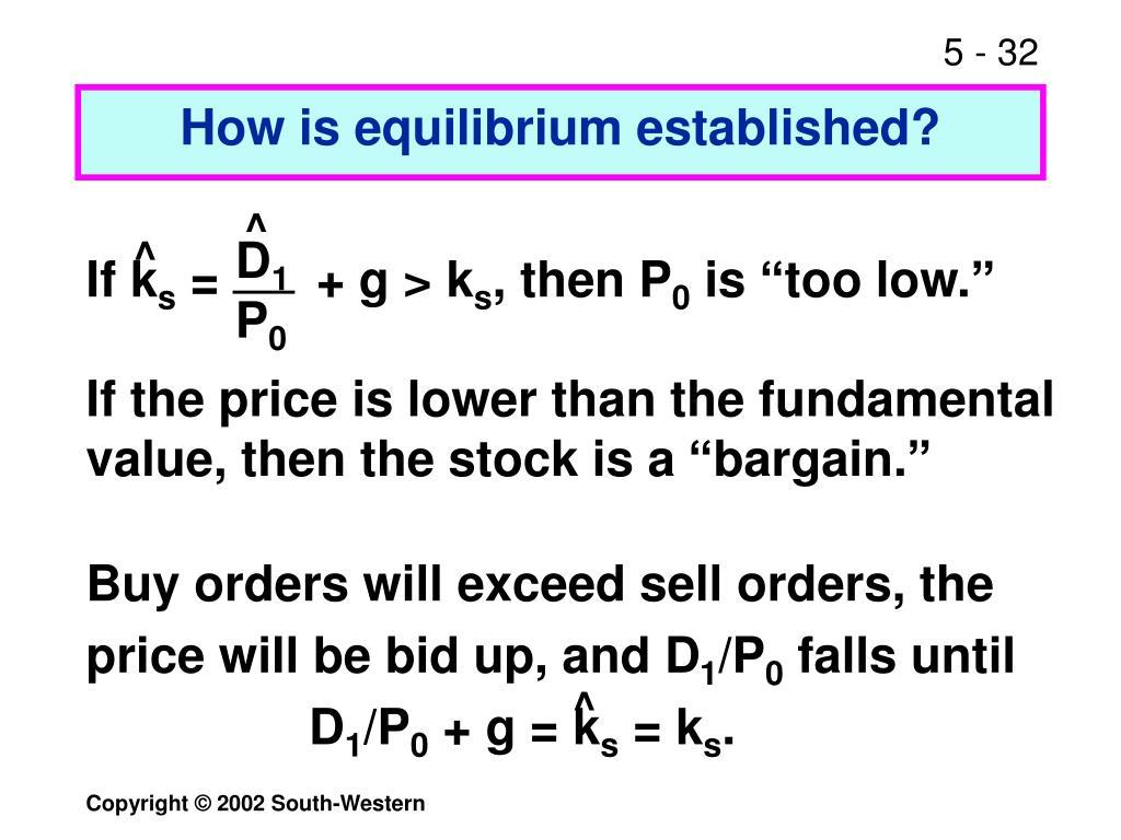 How is equilibrium established?
