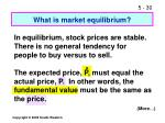 what is market equilibrium