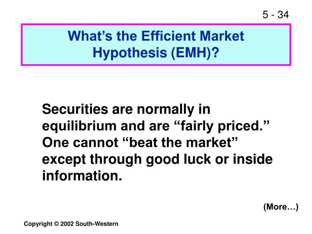 What's the Efficient Market