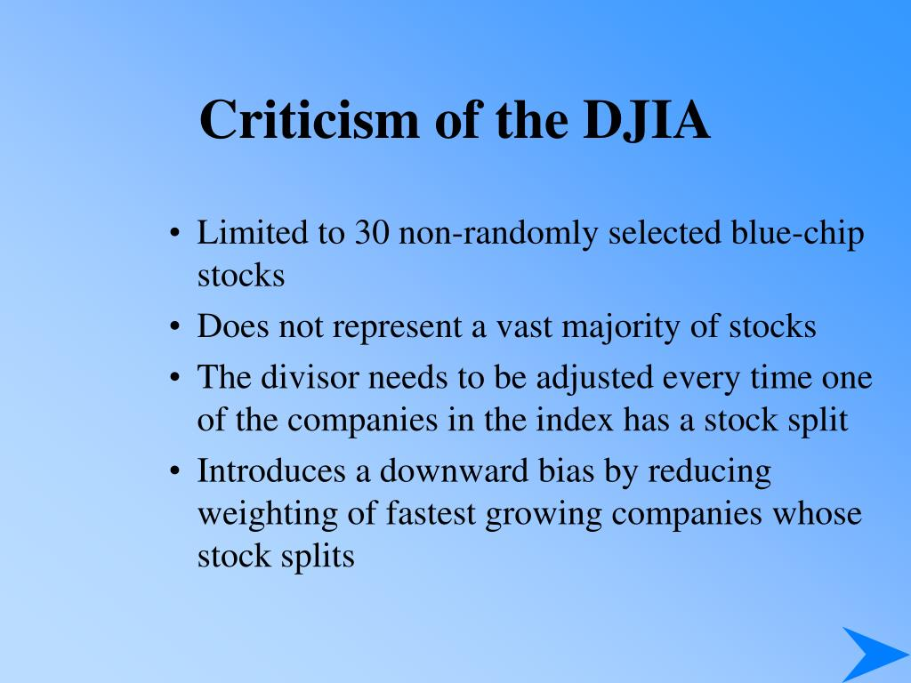 Criticism of the DJIA