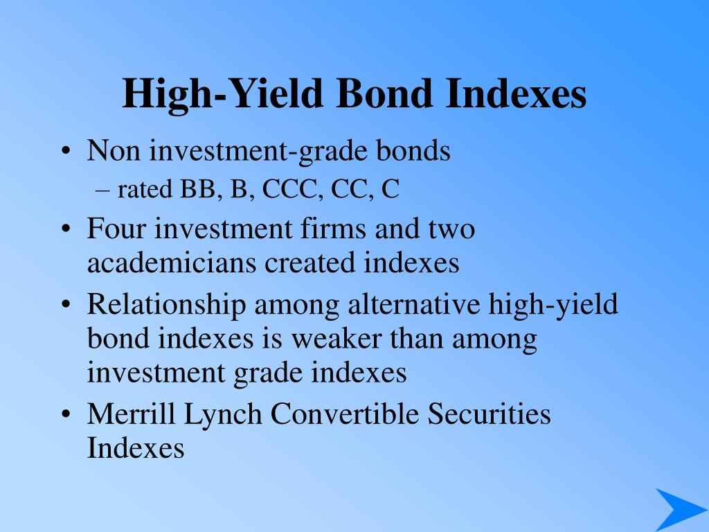 High-Yield Bond Indexes