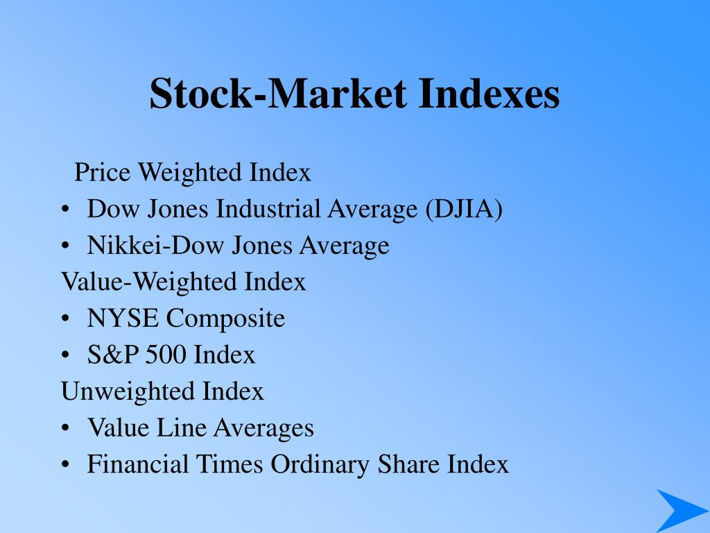 Stock-Market Indexes