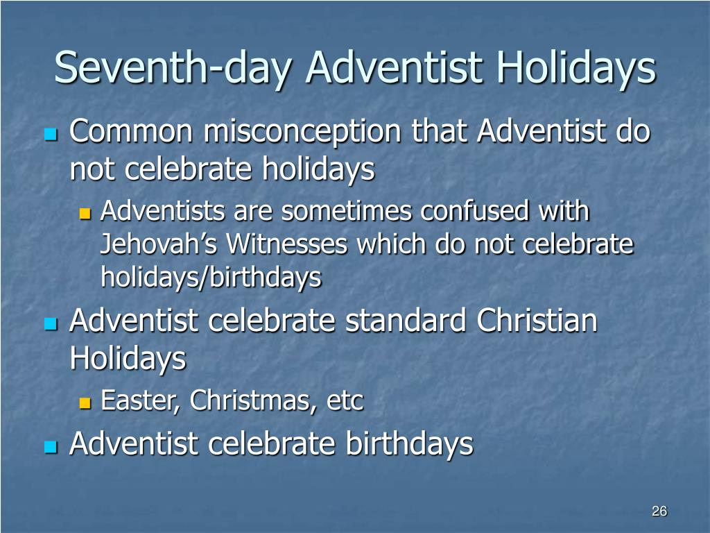 Do 7th Day Adventists Celebrate Christmas.Ppt Research Project Rel 100 Introduction To The Study