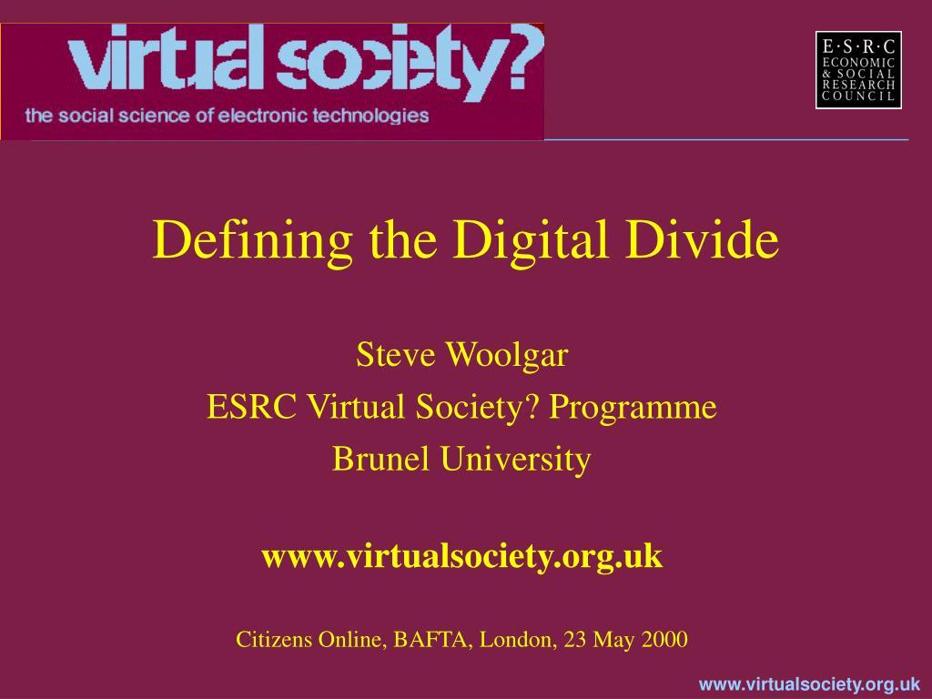 defining the digital divide l.