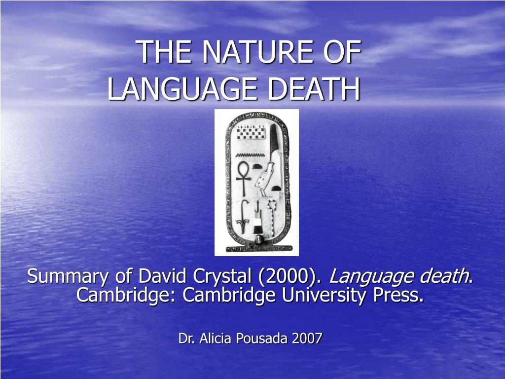 the nature of language death l.