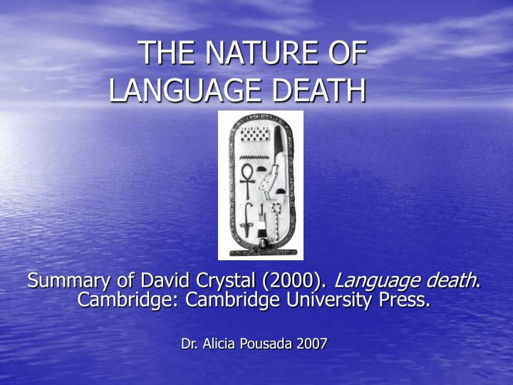 the nature of language death n.