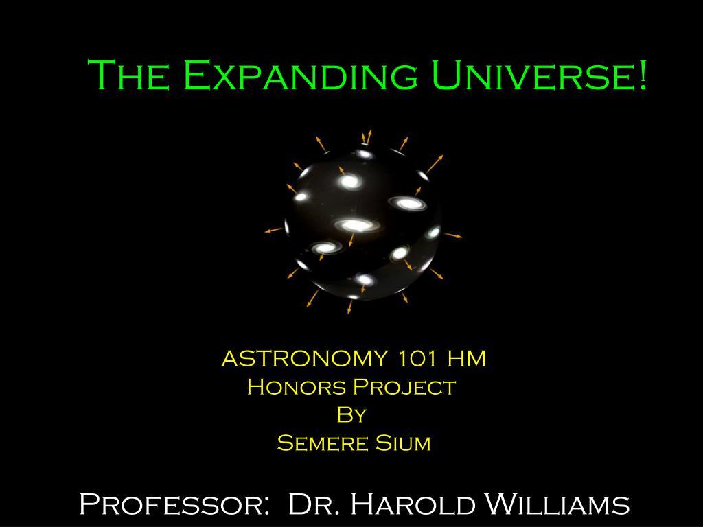 the expanding universe l.