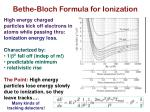 bethe bloch formula for ionization