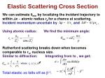 elastic scattering cross section