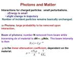 photons and matter
