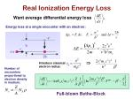 real ionization energy loss