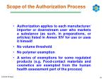 scope of the authorization process
