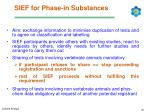 sief for phase in substances