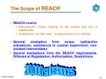 the scope of reach