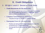 d credit obligations27