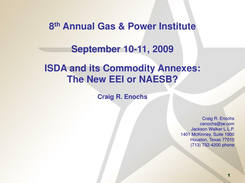 Ppt 8 Th Annual Gas Power Institute September 10 11 2009 Isda
