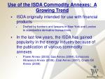 use of the isda commodity annexes a growing trend