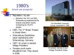 1980 s growth and prosperity