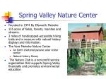 spring valley nature center
