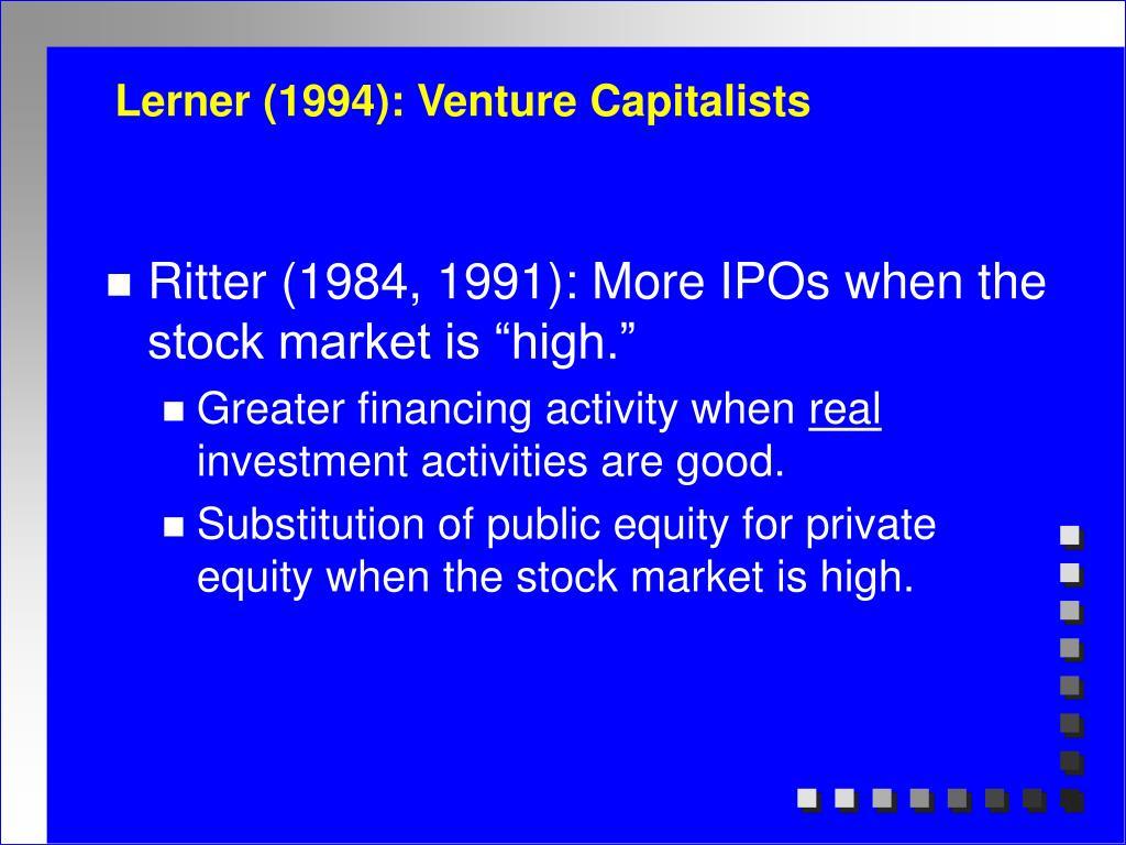 lerner 1994 venture capitalists l.
