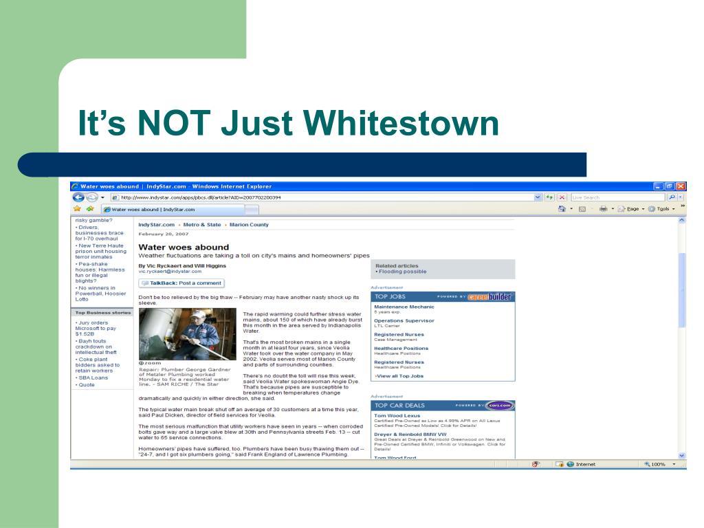 It's NOT Just Whitestown