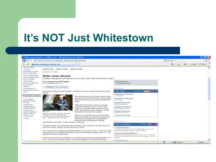 It s not just whitestown