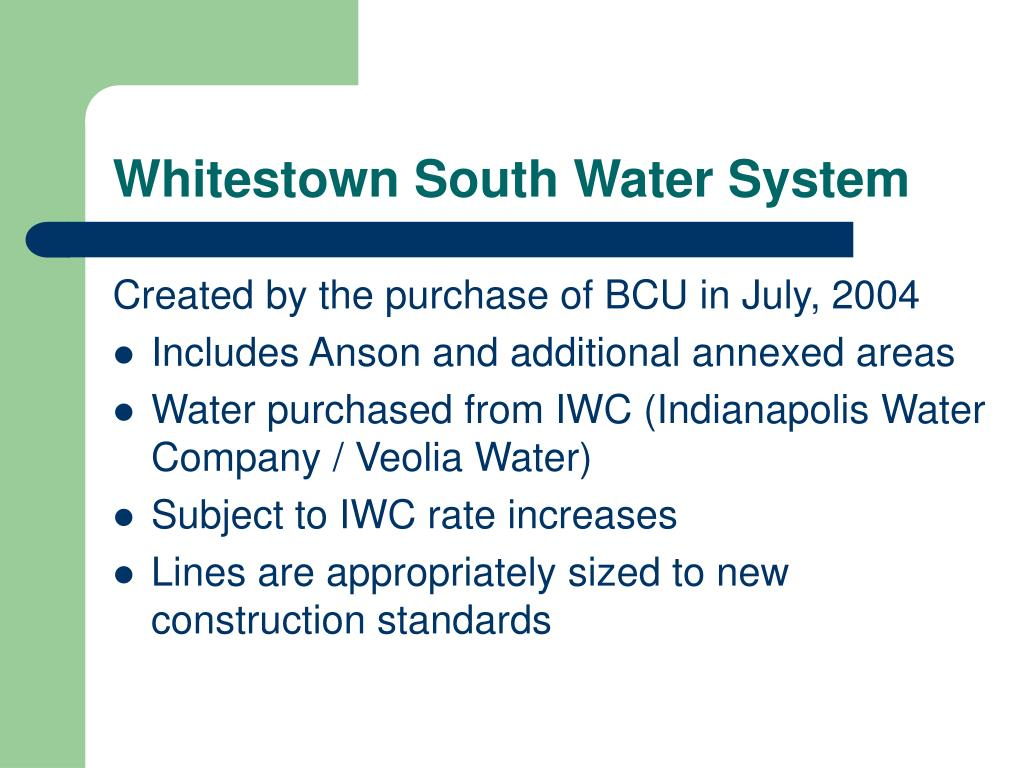 Whitestown South Water System
