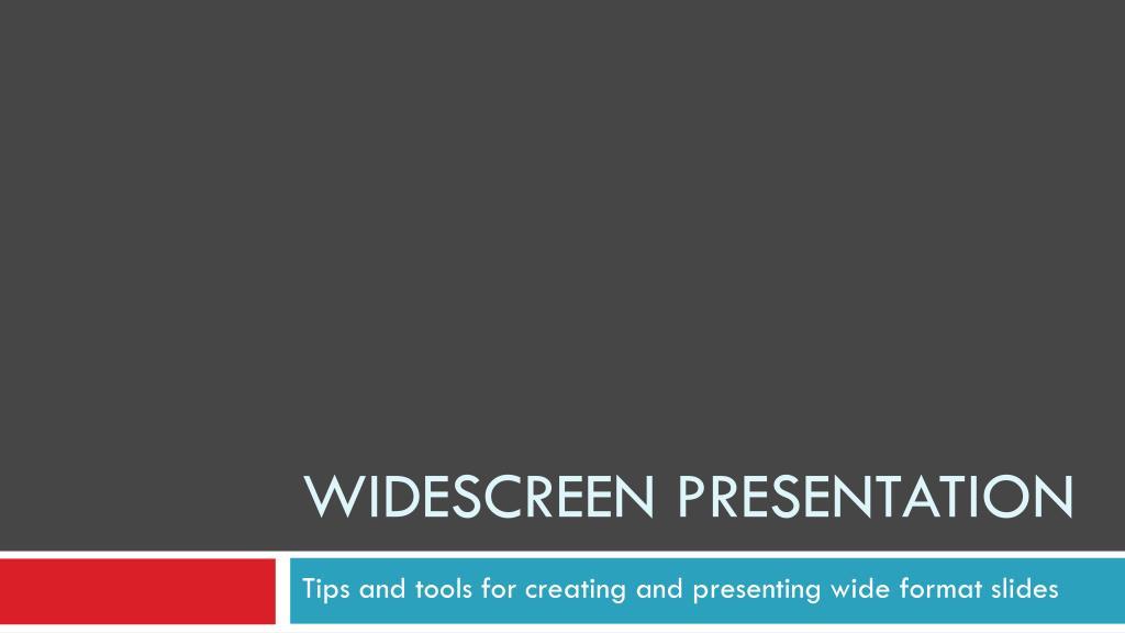 widescreen presentation l.
