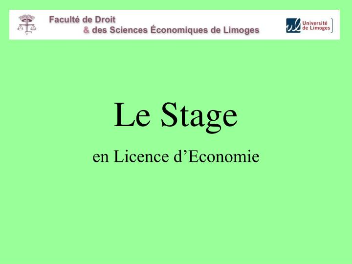 Le Stage