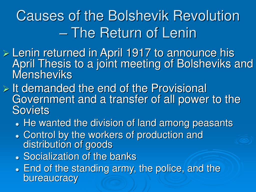 Causes of the Bolshevik Revolution – The Return of Lenin