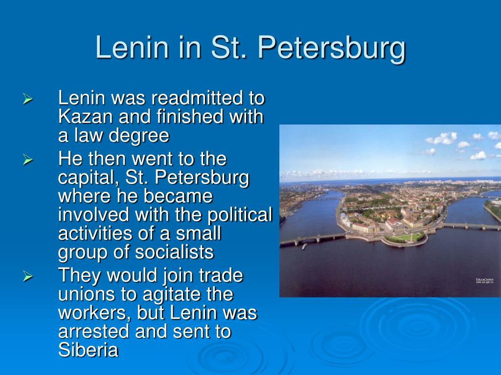 Lenin in St. Petersburg