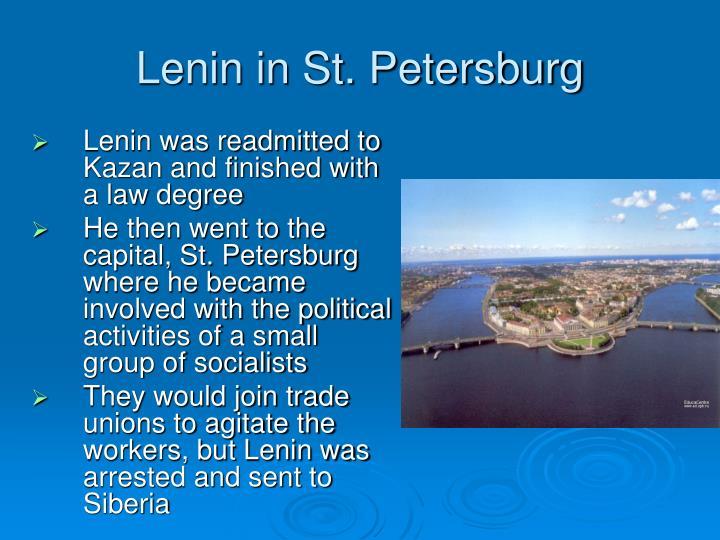 Lenin in st petersburg