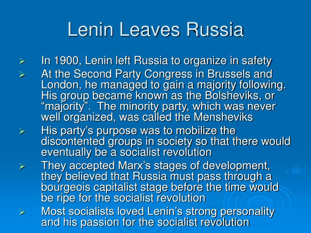 Lenin Leaves Russia