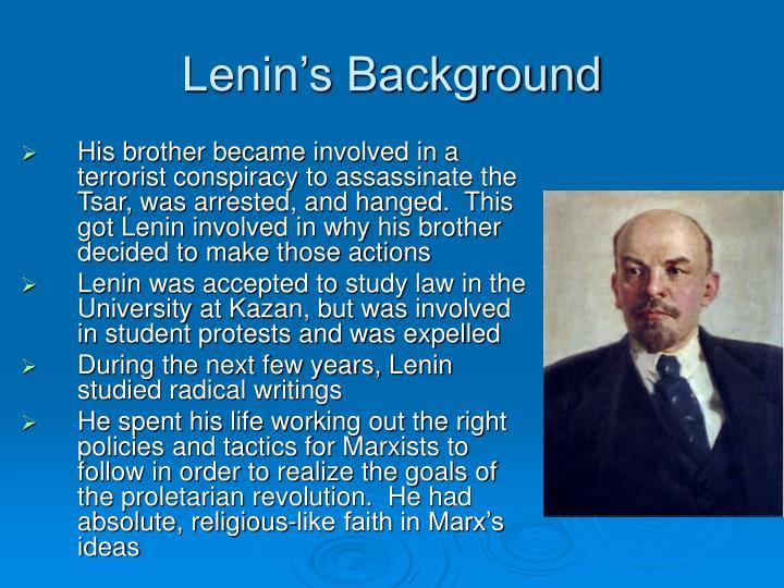 Lenin s background