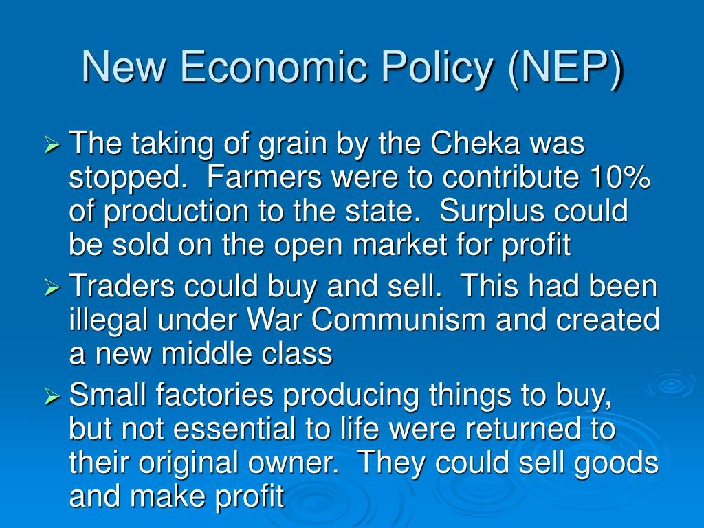New Economic Policy (NEP)