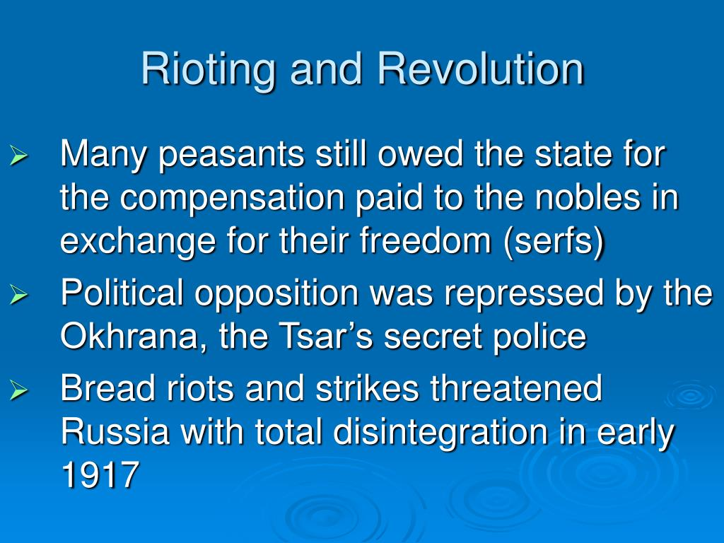 Rioting and Revolution