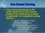 use based zoning11