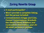 zoning rewrite group6