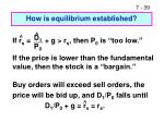 how is equilibrium established