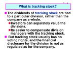 what is tracking stock