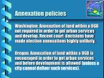 annexation policies