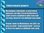 enforcement powers