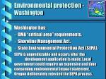 environmental protection washington