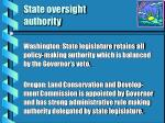 state oversight authority