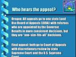 who hears the appeal13