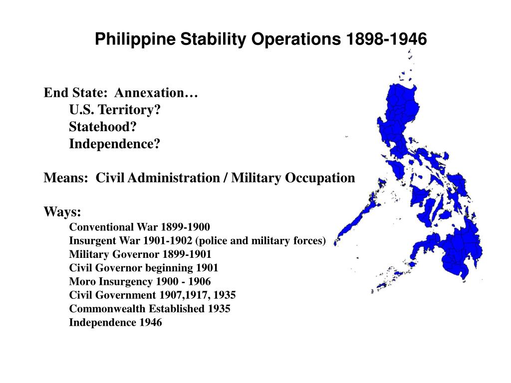 Philippine Stability Operations 1898-1946